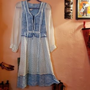 Vintage 70s prairie girl dress